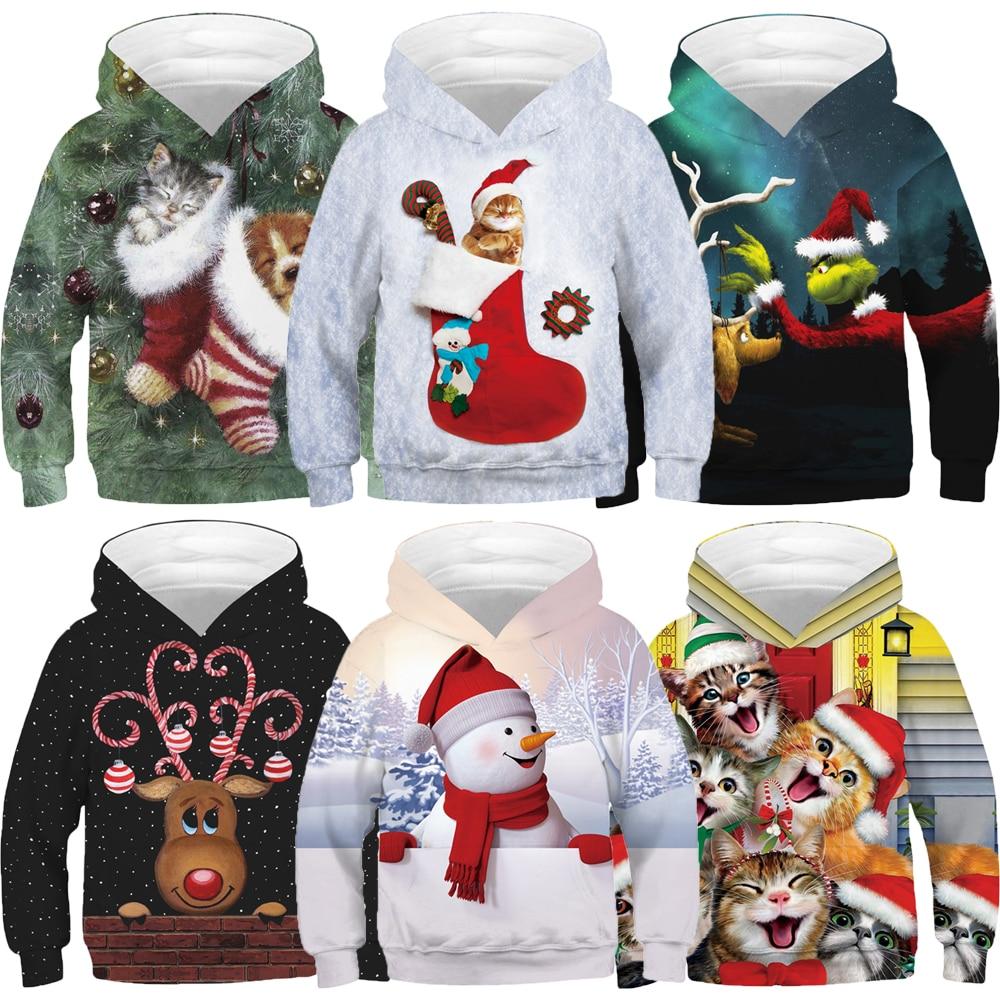 Kids Girls Boys 3D Wolf Print Hoodie Pullover Sweatshirt Hoody Jumper Jacket Top