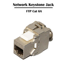 10 шт. 10G bps FTP Cat 6A Keystone Jack Networking Fluke тестер инструменты прошли RJ 45 порт Ethernet(Китай)