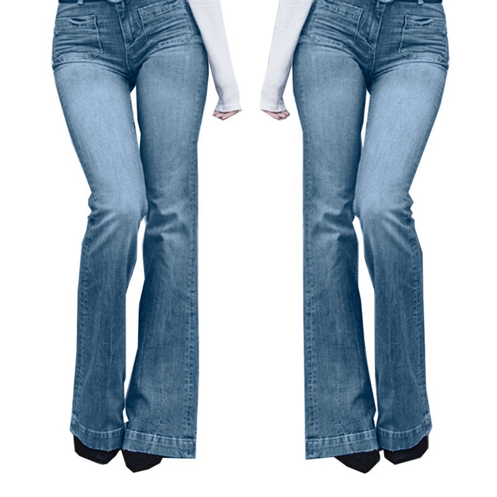 2020 High Waist Flare Jeans Boyfriend Jeans For Women Skinny Jeans Woman Black Wide Leg Female Pants Plus Size Ladies Denim#g3