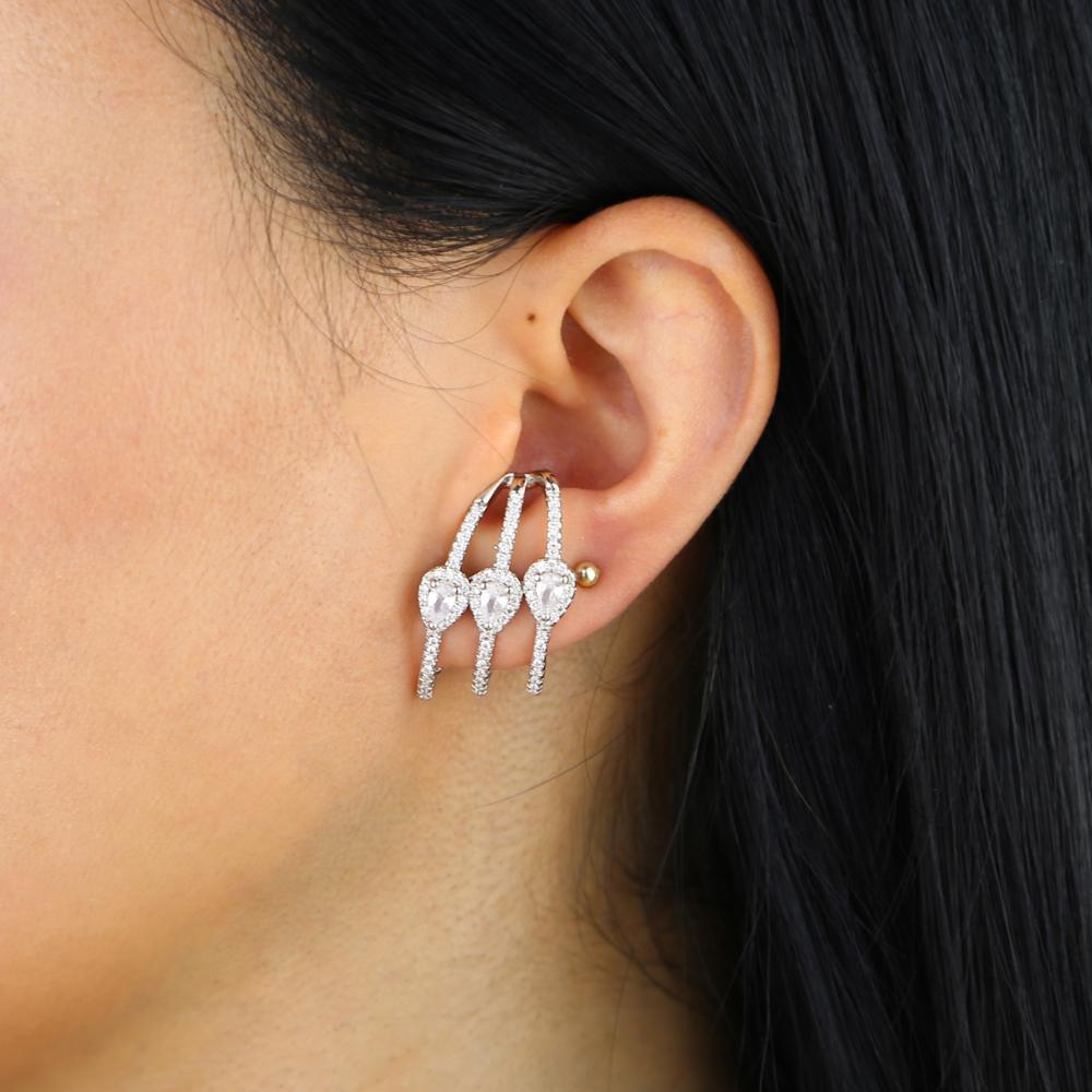 brass cz earring Y (11)