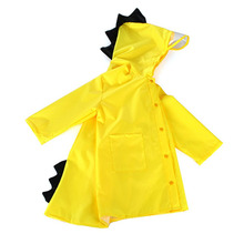 Kids Raincoat Poncho Waterproof Hooded-Rainwear Girls Outdoor Dinosaur Boy Cartoon Kindergarten