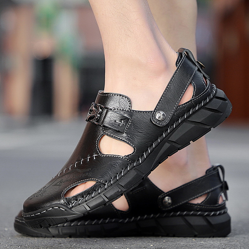 48 Large Size Handmade Sandals Handmade 47 Sewing Sandals Outer Wear Men 46 Outdoor 45 Breathable Double Purpose Sandals