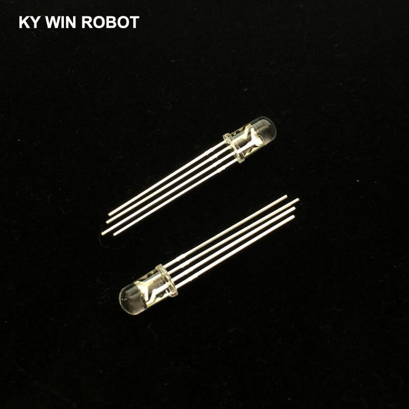 10pcs 5mm RGB LED Diode 4pins Common Anode/Cathode Tri-Color Emitting Diodes Diffused Red Green Blue DIY Kit