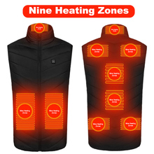 Heated-Vest Winter Usb Outdoor Rechargeable for Chaqueta Trmica 8/9-Areas