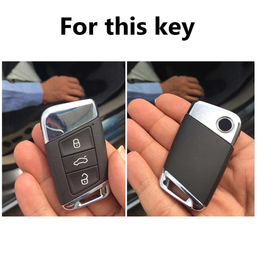 Funda llave adecuada para VW Passat arteon skoda superb kodiaq keyless rojo