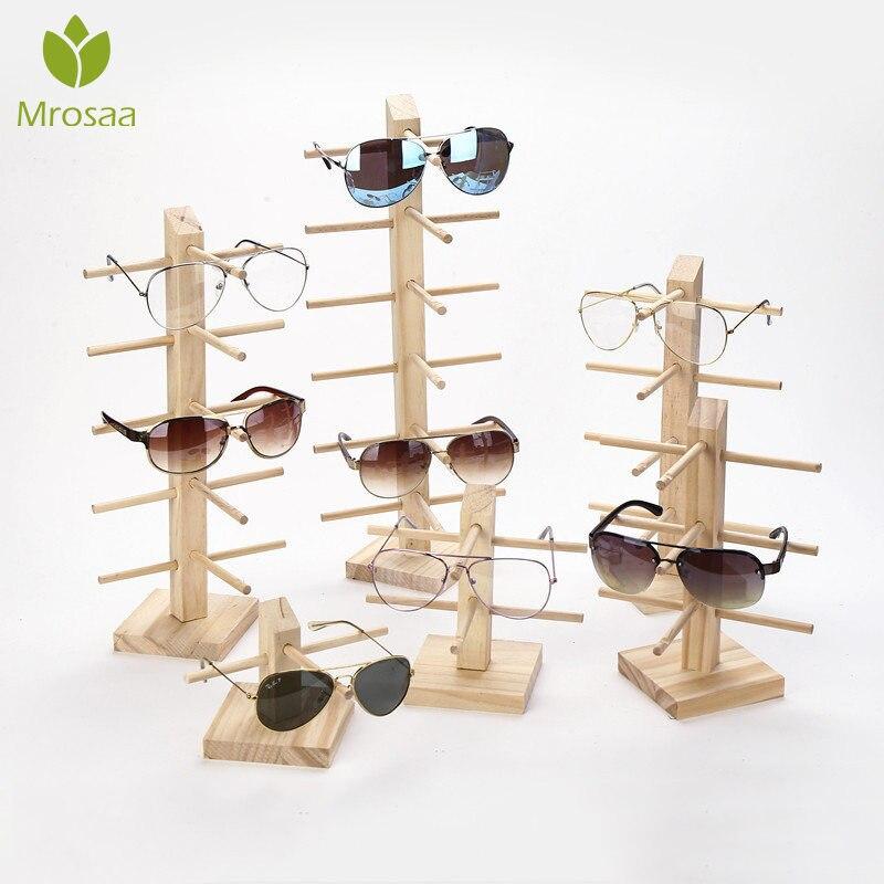 Solar Powered Rotating Sunglasses Glasses Frame Display Stand Show Holder Rack