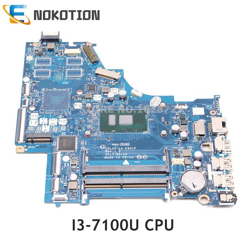 HP 15-BS060WM 15-BS SERIES INTEL i3-7100U 2.4Ghz MOTHERBOARD 924749-601 GENUINE