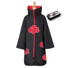 Naruto Costume Anime Akatsuki Cosplay Cloak Hawk Snake
