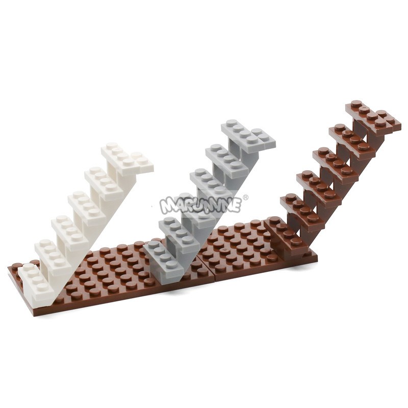 MARUMINE Staircase 7x4x6 House Stairs 30134 Steps Ladder Modular fit with Building block bricks kid DIY Classic Educational Toys