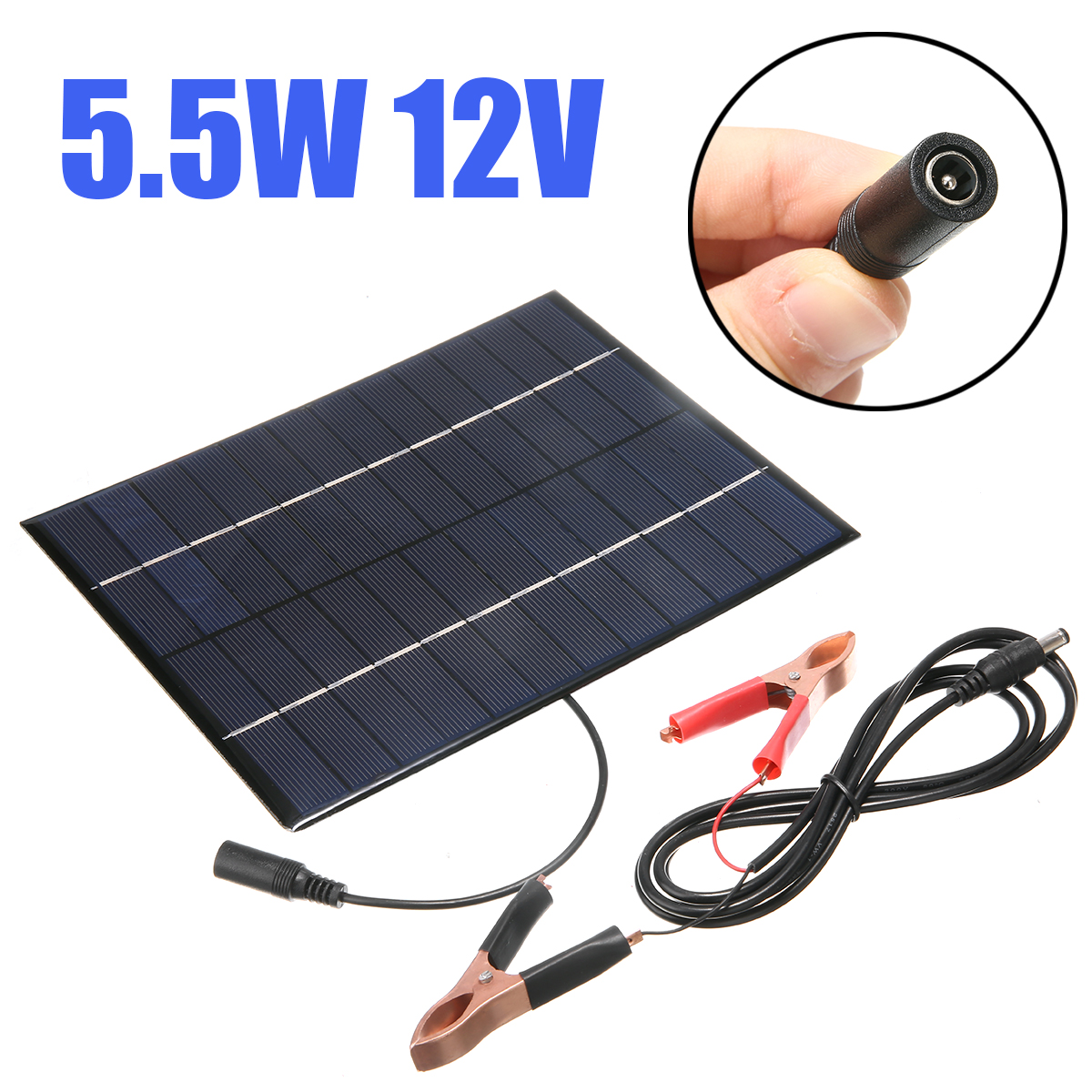 Solar Panel Power Module Battery Charger Car Boat Auto Camp Motorcycle Electrical Solar Panel 5.5W 12V