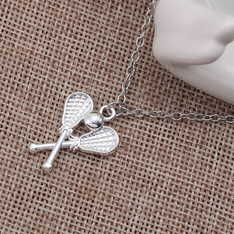New-Design-Badminton-Baseball-Tennis-Racket-Pendant-Necklace-Women-Silver-Color-Link-Chain-Sport-Fitness-Jewelry