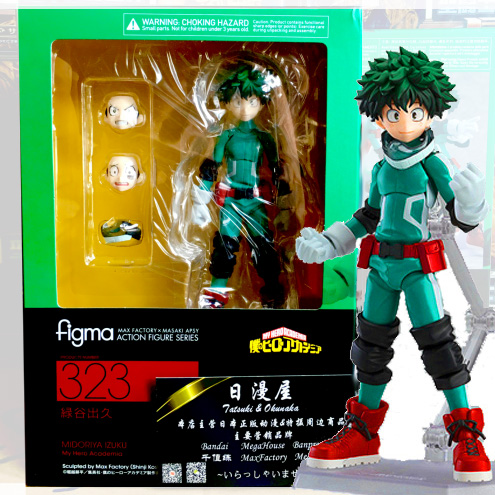 Figma 323 Japan Anime My Hero Academia Izuku Midoriya Figure Action Figuren Box