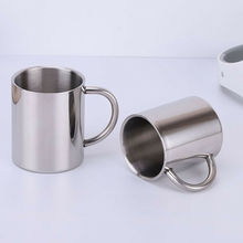 Handle-Cup Coffee-Mug Stainless-Steel C-Shape Travel Double-Wall Insulated 220/300/400ml
