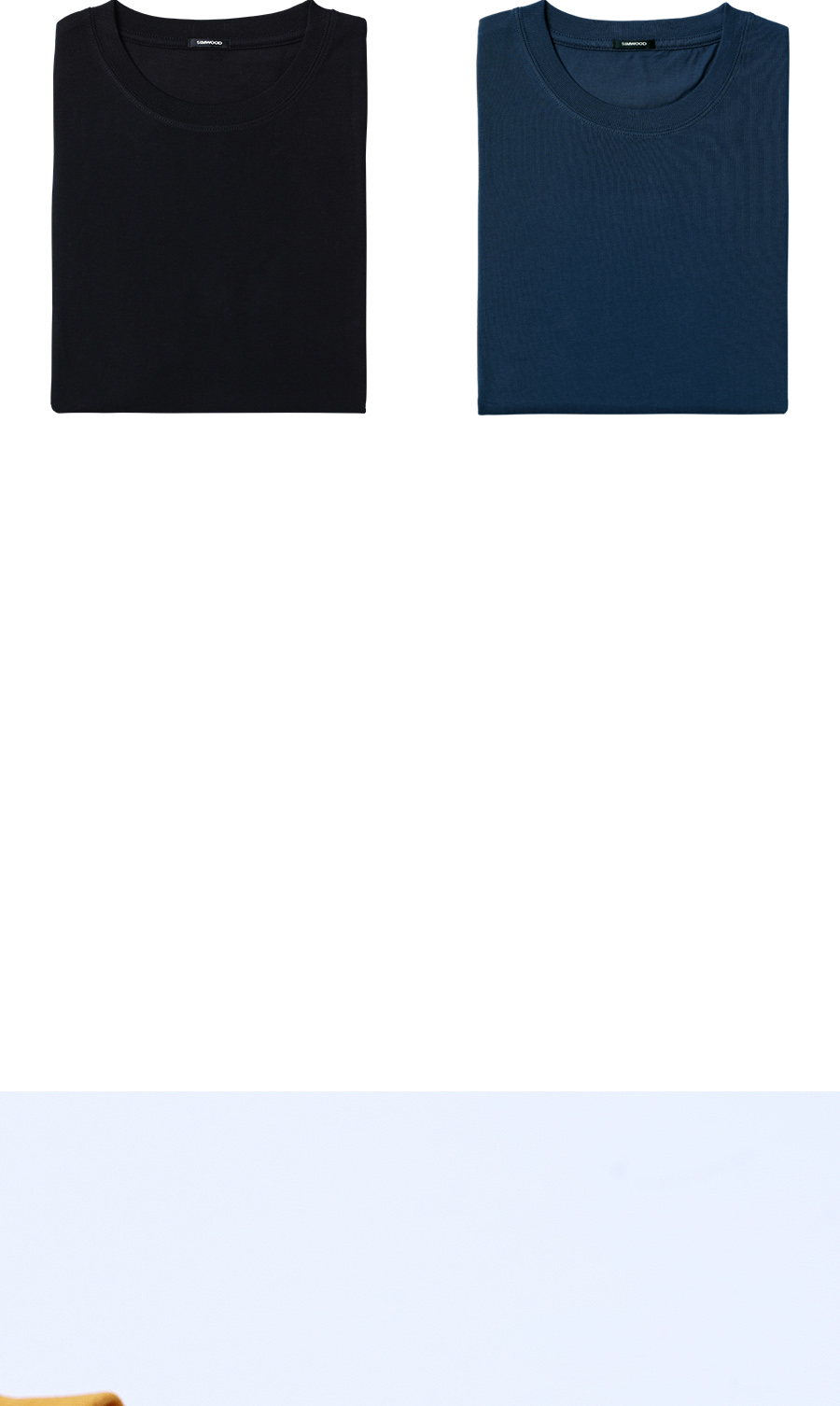 SIMWOOD 19 Summer New T-Shirt Men 100% Cotton Solid Color Casual t shirt Basics O-neck High Quality Plus Size Male Tee 190004 31