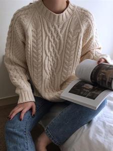 Colorfaith Pullovers Tops Women's Sweaters Loose Warm Minimalist Korean-Style Autumn Winter