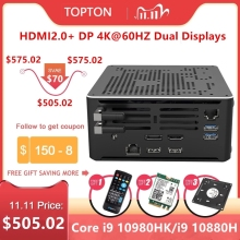 Мини-ПК tozwol2lan игровой, Core i9, 10880H i7, 10750H Xeon, DDR4, M.2 NVMe, Windows 10, Linux product image
