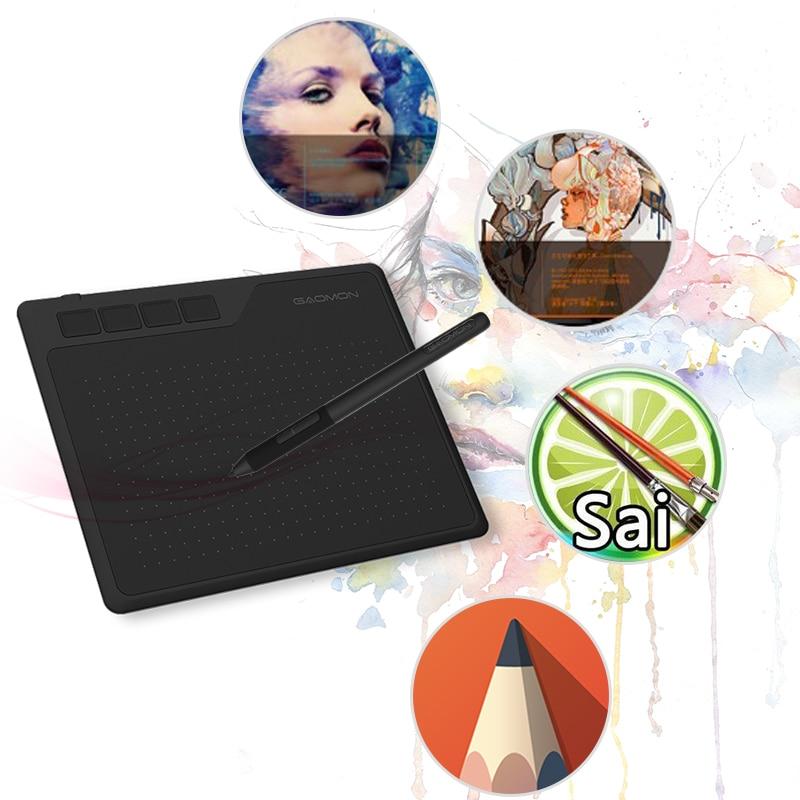 Цифровой планшет со стилусом GAOMON S620, 6,5x4 дюймовый планшет графический планшет аниме для рисования и игр OSU с 8192 уровнями ручка без батареи