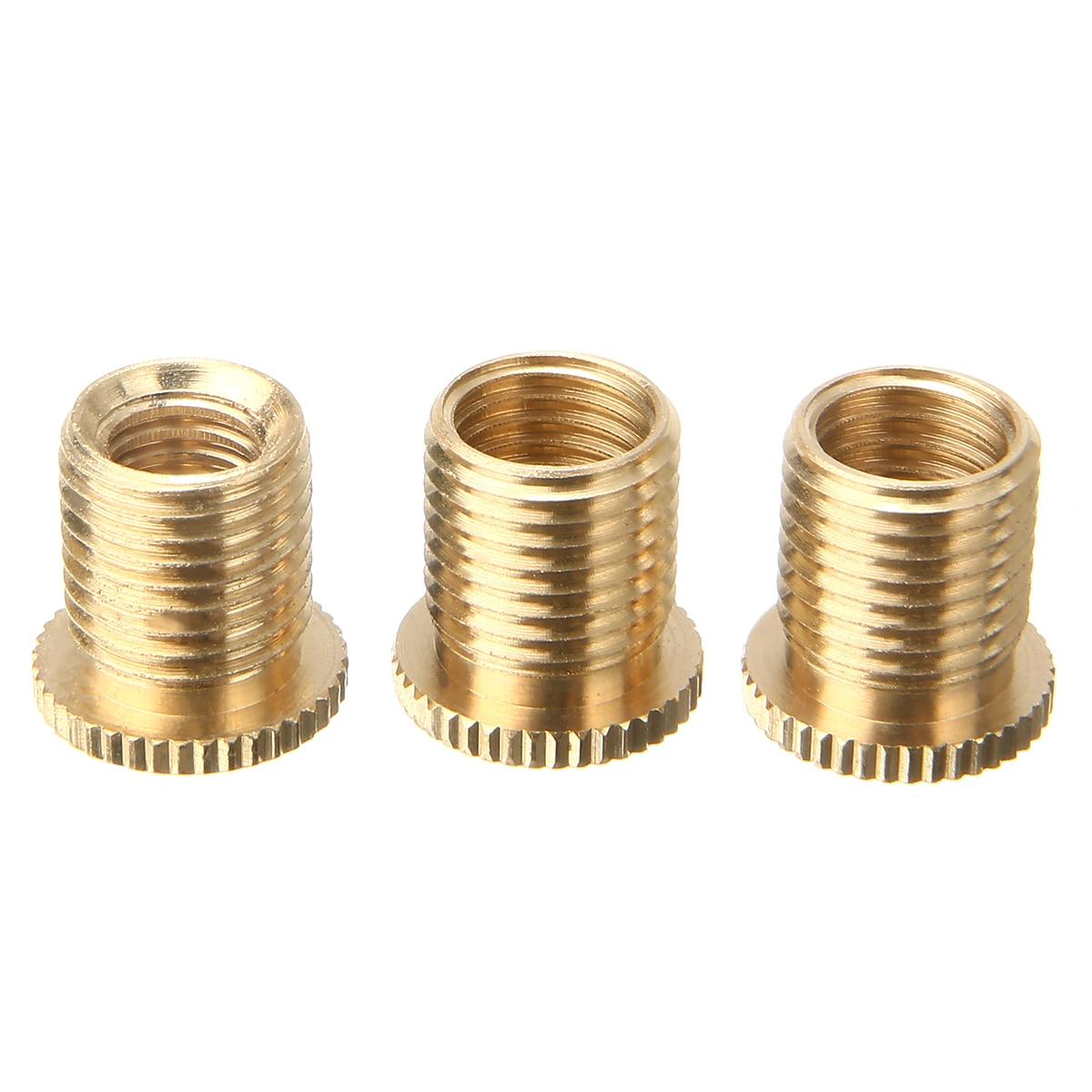 3pcs M10x1.25 M10x1.5 M8x1.25 Car Auto Gear Stick Shift Shifter Knob Head Thread Screw Adapter Aluminum Alloy Accessories Parts
