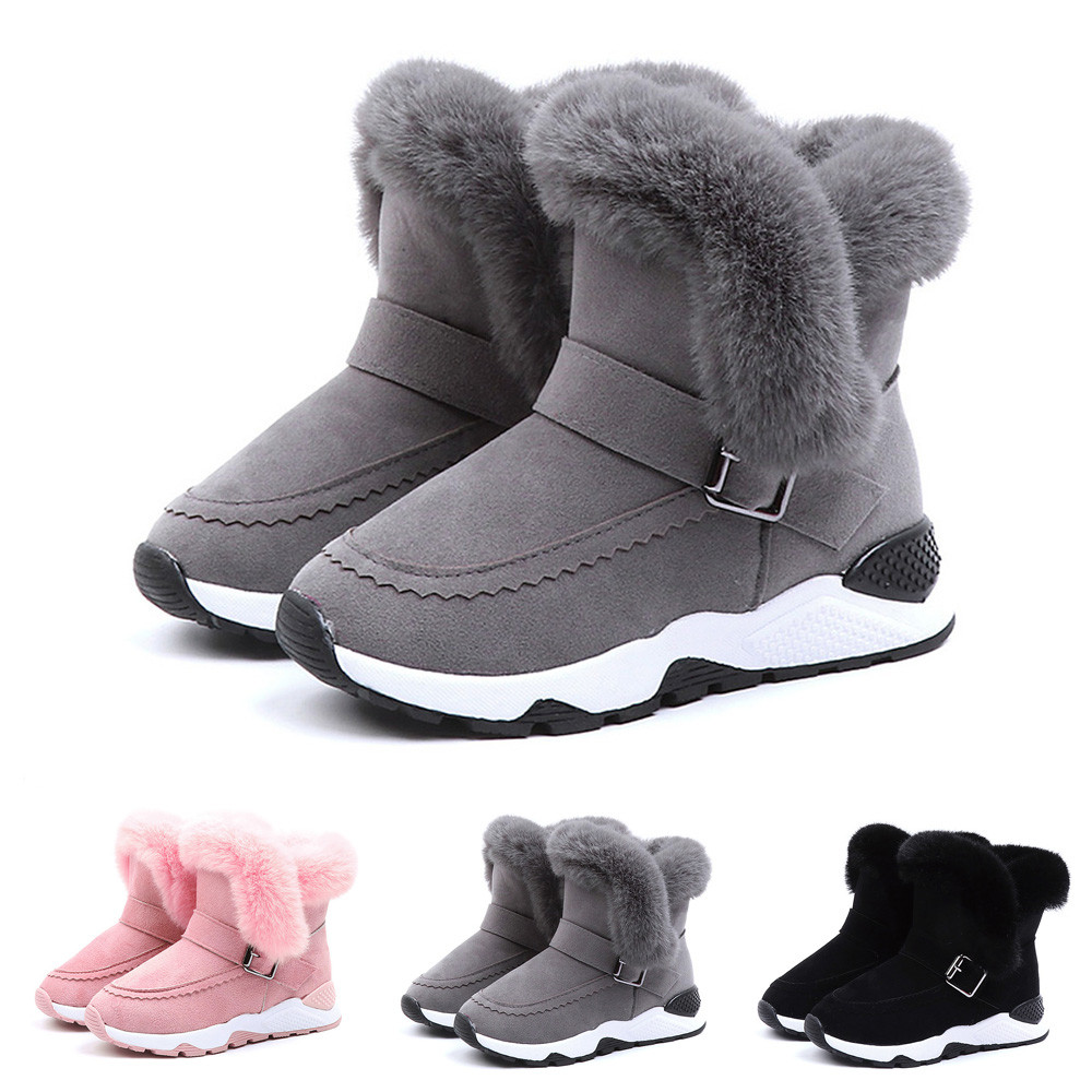 Kids Baby Infant Girls Boys Cartoon Martin Winter Warm Boots Snow Boots Shoes