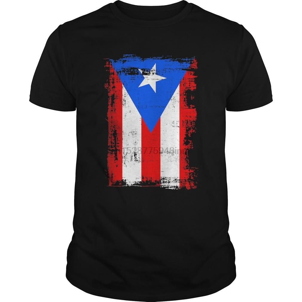 Puerto Rico t-shirt Puerto Rican flag t-shirt men/'s black tee soccer pride tee
