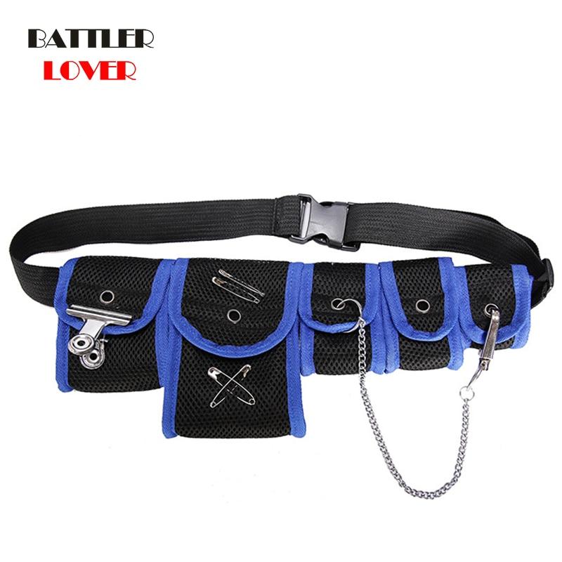 2020 Cool Streetwear Waist Chest Bag for Men Women Mesh Tactical Package With 5 Pockets Hip Hop Waist Packs Waist Packs Belt Bag