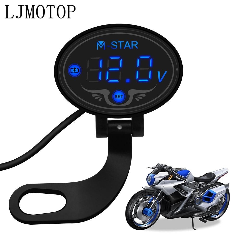 Motorcycle Voltmeter Tester Led Display Voltage Meter For Suzuki GSXR GSX-R 600 750 1000 K1 K2 K3 K4 K5 K6 K7 K8 K9 Accessories