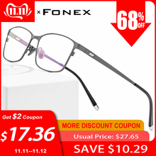 Eyeglasses Frames Eyewear Oculos Square Classic Male Full-Optical-Prescription Pure 8505
