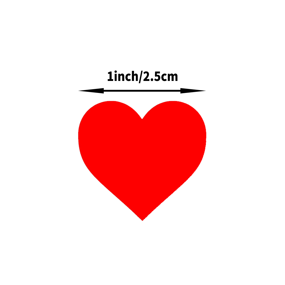 500 Pcs/roll Colorful Heart Shaped Stickers 1inch Love Stickers for School Gift Stickers for Boys and Girls Cute Toys Stickers