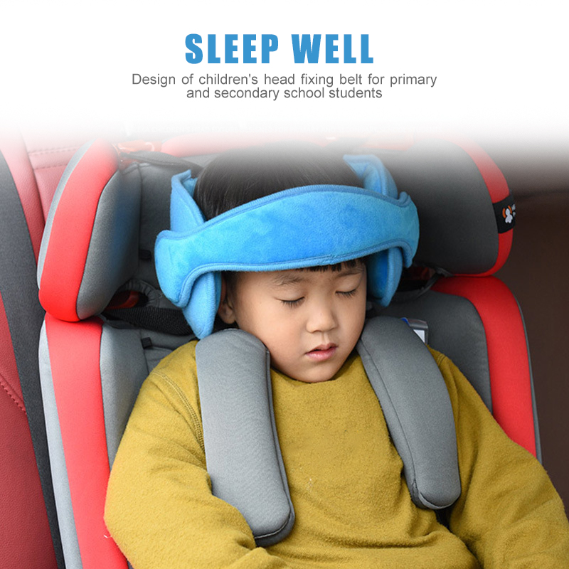 Baby Head Support and Strap Covers Baby Headrest and Carseat Neck Cover Infant Head Support Pillow Toddler Headrest Cushion Pad for Carseat Canopy Strollers Carrier Bouncers Navy Blue