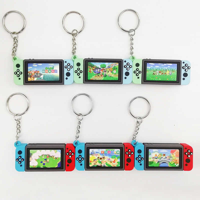 2020 Hot Switch Game Animal Crossing Keychain Nintendo Switch Car Keyring Charm Bag Pendant Fashion Soft Rubber PVC Key Chains