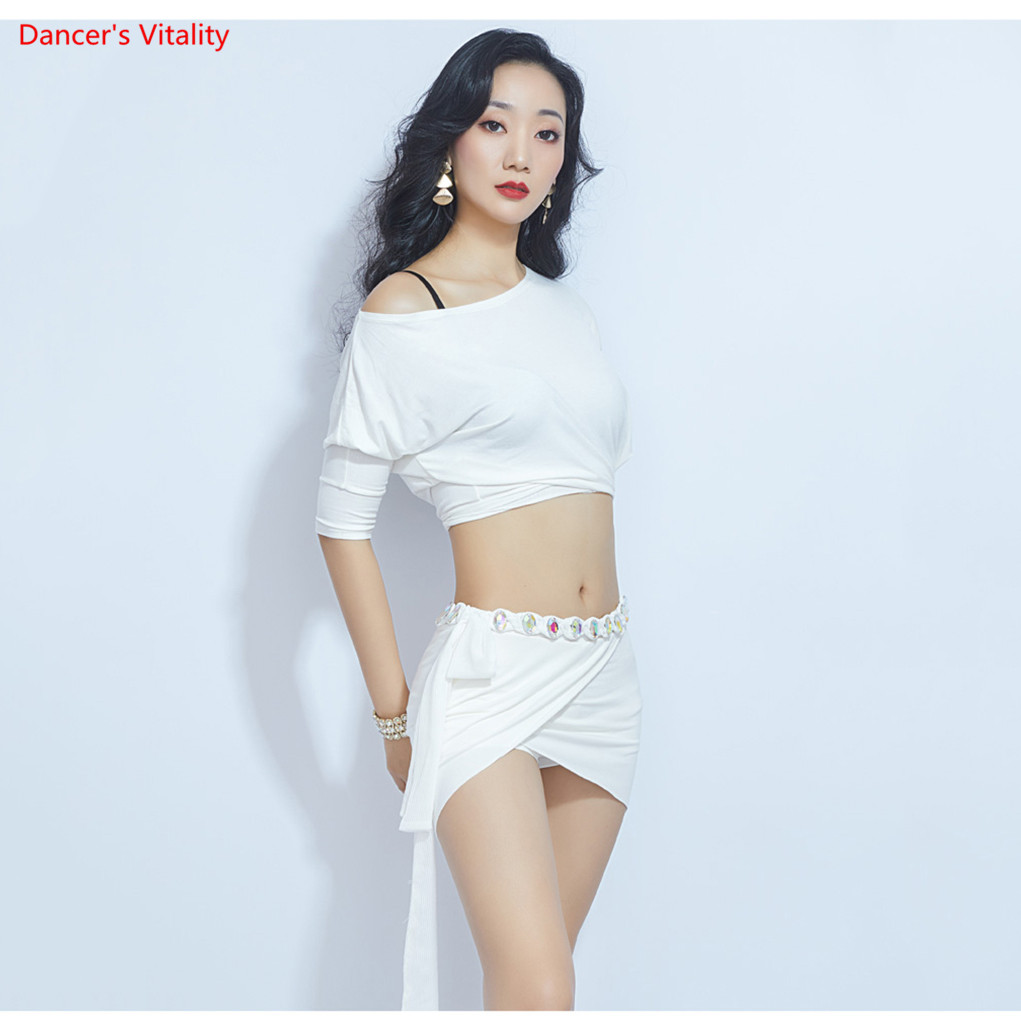 Loose Design Sexy Belly Dance Costume Top Split Long Skirt Dance Costume Oriental Dance Practice Clothes