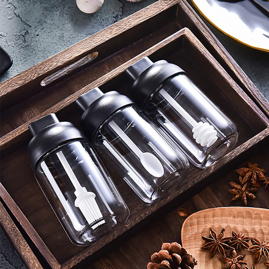 Spice Storage With Spoon Lid, iBuyXi.com, Honey Jar with Brush, Buy Kitchen dining items