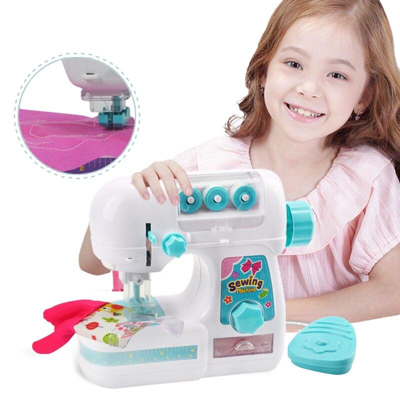 Детская симуляционная швейная машина, игрушка, мини мебель, игрушка, обучающая, дизайнерская одежда, игрушки, креативные подарки для девочек, детей