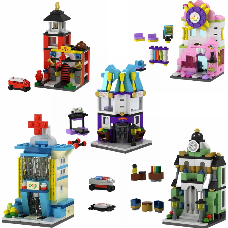 Legoing City Building Blocks Toys & Hobbies Hospital Library Fire Station Sports Hall Compatible City Brick Children