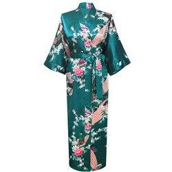 Атласный женский халат в цветочек, размеры до 3XL