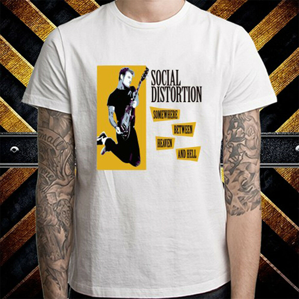 New Social Distortion Skelly Logo Punk Rock Band Homme T-Shirt Noir Taille S-3XL