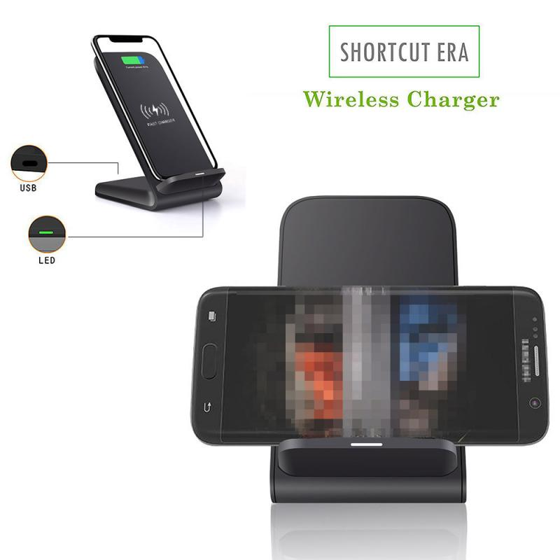 Phone - Mobile Phone Wireless Chargers 15W Qi Wireless Charger Stand For iPhone Samsung Fast Charging Dock Station Phone Charger FDGAO