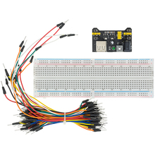 Kit Bread-Board Prototype Power-Module 65-Jumper-Wires Points with Box MB102 830