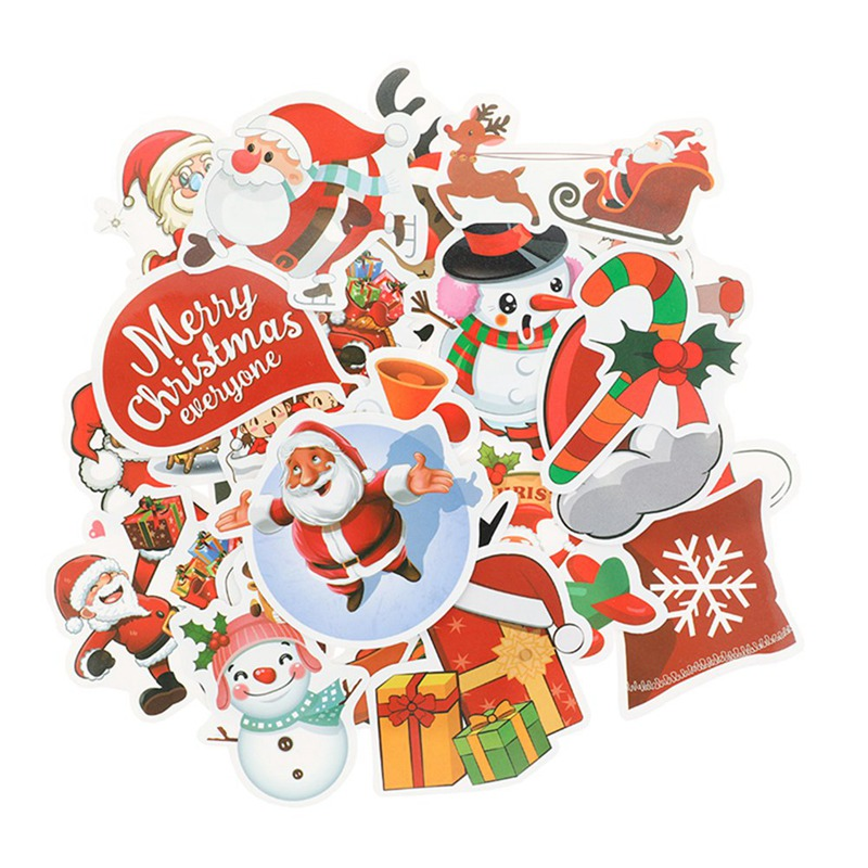 25Pcs Christmas Decals Skateboard Laptop Luggage car Guitar bicycle Stickers xmas decorations for home