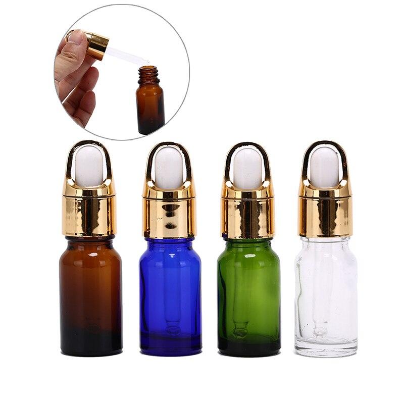 1pc 10ML Travel Pot Eye Dropper Liquid Reagent Pipette Empty Dropper Bottles Aromatherapy/Eye Drops Glass Mini Pot Jar
