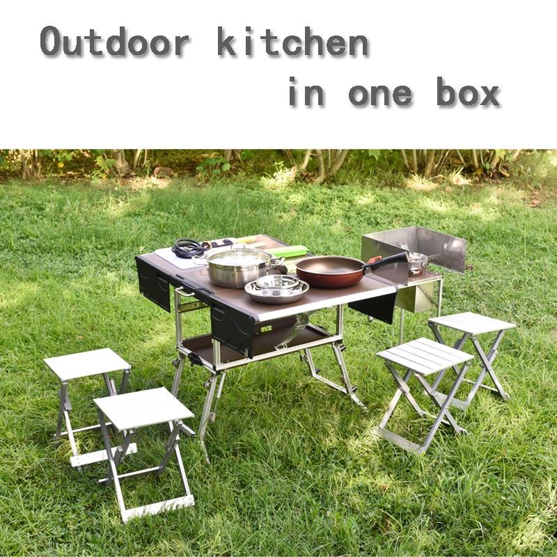 Мобильный кухонный складной стол Булин на 4 7 человек кемпинг пикник набор посуды