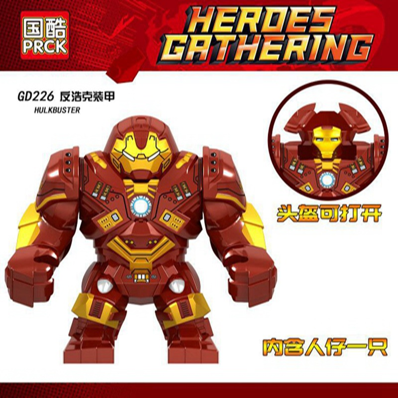 Legoing Iron Man Marvel Mark 44 Avengers 3 Blocks Big Size Hulkbuster GD226 Marvel Action Figures Legoing Blocks Bricks Figurine
