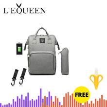 Lequeen Travel Backpack Baby-Bag Maternity-Nappy-Bag Designer Mummy Nursing-Bag Large-Capacity