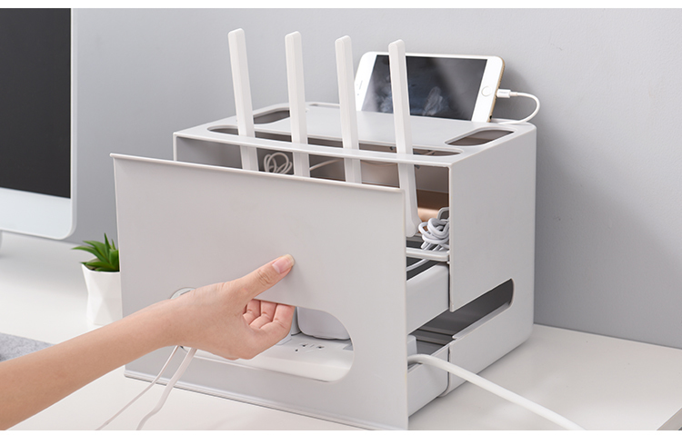 Double Layers Drawer Type WIFI Router Storage Box 84