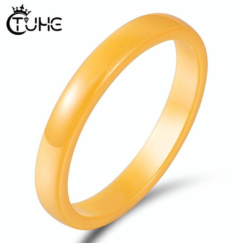 Керамические кольца шириной 3 мм белого, черного, розового, синего, желтого цвета, гладкие, никогда не выцветают, здоровые женские и мужские кольца, свадебные украшения, подарок