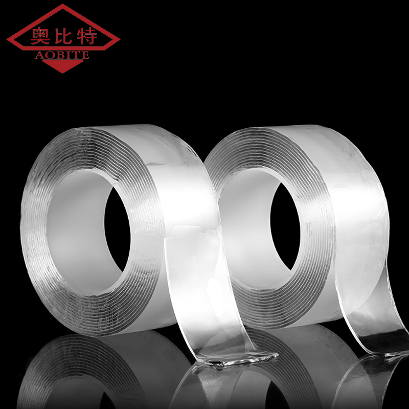 AOBT 1M/2M/3M/5M Double Nano Magic Tape Double Sided Tape Transparent NoTrace Reusable Waterproof Adhesive Tape Cleanable Home