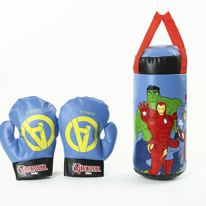 Mingliang Spider-Man Enfants pour Ensemble De Gants De Boxe Cartoon D/écompression Jouet /Équipement Sportif Famille Entra/înement Boxe Avengers
