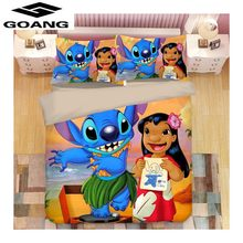 GOANG 3d digital printing Lilo & Stitch bedding sets bed sheet duvet cover and pillowcase Home textiles Christmas decoration(China)