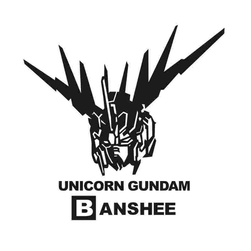 Pegatina GUNDAM Sticker Anime Cartoon Car Decal Sticker UNICORN BANSHEE Vinyl Wall Stickers  Decor Home Decoration
