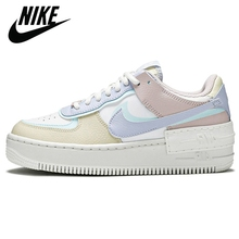 Shoes Sneakers Nike Sports-Skateboard Official 1-Shadow Air-Force Women's Authentic Breathable